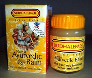 100g  SIDDHALEPA Ayurveda Ayurvedic Herbal Balm Pain Cold Flu Headaches = 100 g