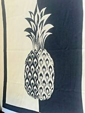 New In2Green Black & White Pineapple Upcycled Cotton Blend Throw