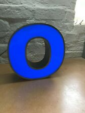 RECLAIMED VINTAGE INDUSTRIAL ILLUMINATED SHOP SIGN WALL ART - LETTER O