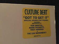 "CULTURE BEAT GOT TO GET IT 2X12"" LP 1993 SONY BS 5678 GATEFOLD RARE PROMO"