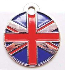 ~ Union Jack Flag Small pet id tags