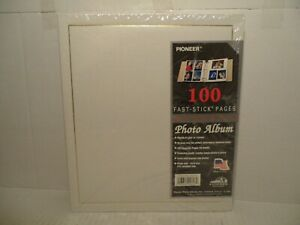 Pioneer Photo Album With 100 Magnetic Pages Photo Safe - NEW SEALED- WHITE