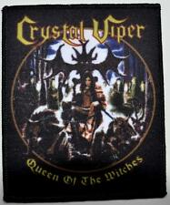 CRYSTAL VIPER - Queen Of The Witches - Woven Patch / Aufnäher