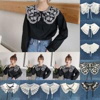 White Black Lace Detachable Collar Clothes Accessories Blouse Shirt Fake Collar