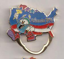 1996 Izzy Atlanta Olympic Pin Eye Glass Holder Glasses US Torch