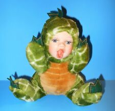 Cuddle Kids Tracy T-Rex Bisque Porcelain Plush Dinosaur Geppeddo Rare HTF 2001