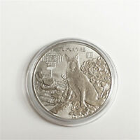 2018 The Dog Commemorative Collection Coin Gold Plated Lucky Wish Gift Silver