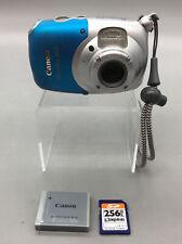 Canon PowerShot D10 Digital Water Proof Camera-12.1 MegaPixels-Silver Blue E02