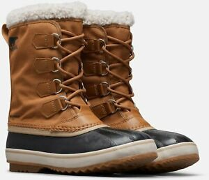 Sorel Mens 1964 PAC Nylon Winter Snow Boots, Waterproof, Size 9.5 in Camel Brown
