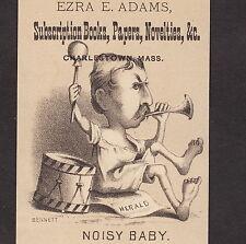 19th Century James Gordon Bennett New York Herald Newspaper Political Comic Card