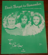 THE BEE GEES ~ DON'T FORGET ~ VERY RARE ORIGINAL UK SONG MUSIC LYRIC SHEET 1969