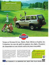 PUBLICITE ADVERTISING  1995   NISSAN  TERRANO II