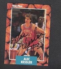 Autographed Alec Kessler (D.2007) 1990 Star Pics Card #32 Miami Heat Georgia