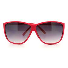 Hot Pink Sunglasses Square Plastic Frame Retro Funky Shades UV 400