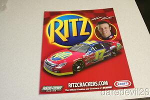 2008 Matt Kenseth Ritz Crackers Ford Fusion NASCAR Sprint Cup postcard