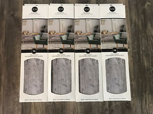 RoomMates Peel and Stick Wall Decals Gray Barn Wood Plank 4 Boxes