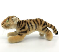 Steiff Tiger Mohair Plush 14cm 5.5in no ID 1960s Vintage