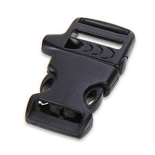 50pcs Buckle Buckle Clip Whistle Paracord Survival Bracelet 20mm BLACK CX