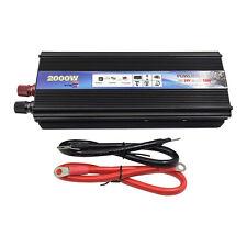 2000 Watt Dc 24V to Ac 110V Car Auto Power Inverter Sine Wave Charger Converter