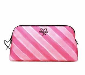 Victorias Secret Makeup Bag Cosmetic Beauty Bag Pouch Pink Striped
