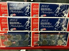 LOT of 6 Sets 2005 U.S. Uncirculated Sets P and D