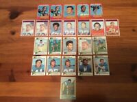 Lot of 23 Trading Cards - 1971 - 1974 Topps FOOTBALL San Diego Chargers (AFC)