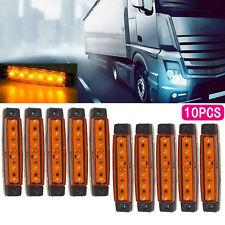 10 x 12V 12 VOLT SMD 6 LED AMBER/ORANGE SIDE MARKER LIGHT TRAILER VAN BUS