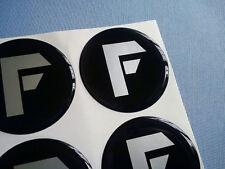 (F60/1) 4x F Embleme für Nabenkappen Felgendeckel 60mm Silikon Aufkleber