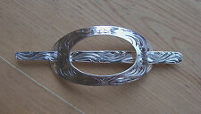 Western Barrette Hair Silver Engraved Handmade Fashion Style Horse Show Rodeo
