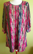 Ladies Womens 3/4 Sleeve Tunic Long Blouse Top Shirt Round Neck Millers Size 18