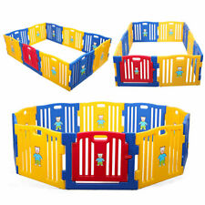 10 Panel Baby Fence Playpen Safety Play Yard Folding Kids Activity Center Home