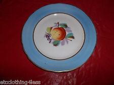 Vintage Fruit Plate Peach gold trim blue border