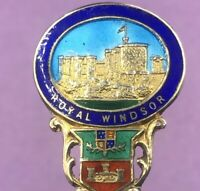 Silver & Enamel souvenir spoon Birmingham 1927 ROYAL WINDSOR