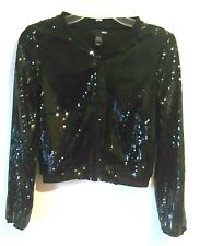 H&M EVENING SEQUENCE THIN JACKET Black SIZE 4