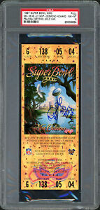 "Desmond Howard Autographed 1997 Super Bowl Ticket Packers ""SB MVP"" PSA 20009954"