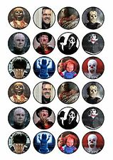 24 Edible cake toppers decorations Adult Halloween scary party horror films