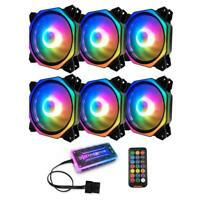 COOLMOON 2RGB 120mm Double Aura Silent PC Case Cooler Fan with Remote Control