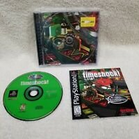 Timeshock Pro Pinball PS1 Sony Playstation 1 Complete Tested Working FREE SHIP!