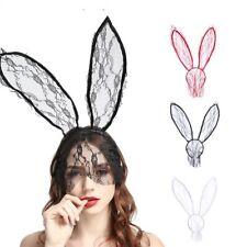 Costume Rabbit Bunny Ears Lace Eye Mask Headband Easter Party Dress Fancy Dress