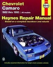 Repair Manual Book Chevy Camaro Z28 RS IROC TPI 82-92 NEW Owners Book Service
