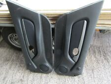 MGF MG TF DARK GREY / BLACK DOOR CARDS COMPLETE WITH INSERTS..