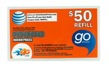 AT&T Go phone $50 Refill PIN - Physical Refill card Top Up 90 Day US Seller ATT