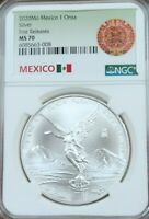 2020 MEXICO SILVER LIBERTAD 1 ONZA NGC MS 70 LOW MINTAGE SCARCE PERFECTION !!!!!
