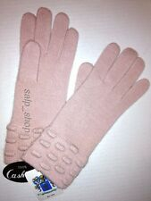 PORTOLANO 100% Cashmere Double Long Cuff Gloves/Pink/NWT