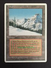 German Taiga White Border | Moderate Play+ MP+ | Dual Land Revised MTG Magic