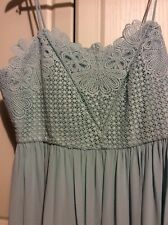 ladies party dress size 20 Nwt M&S Duck Egg Blue