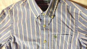 Abercrombie Boys Long Sleeve Button Down Striped Shirt Size L
