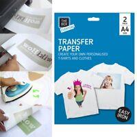 2x TRANSFER PAPERS SET Iron Heat Press Inkjet Print Party Hen Do Cotton T-Shirts