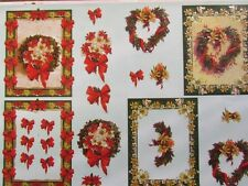 3D Paper Tole Card Making Embossed Christmas Wreaths & Candles 2 Pictures