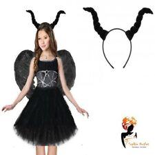 BLACK DARK DEVIL HORNS HEADBAND Ladies Girls Halloween Fancy Dress Accessory Lot